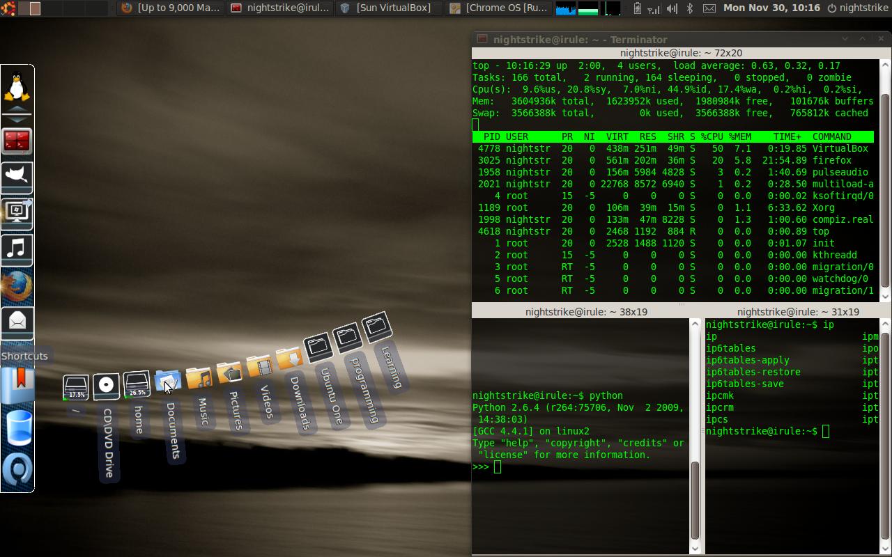 ubuntu desktop terminator gnome compiz | Comfortably Geek